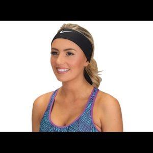 TWO Nike drifit tie on headbands
